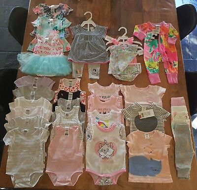 Girls baby clothes - Bonds, Carter's, Seed, Cotton On and Big W - 27 Items