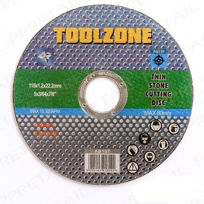 115 x 1.2 x 22.2mm Toolzone C60rbf Pierre Disque De Coupe - Stone Cutting Disc