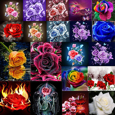DIY 5D Rose Series Diamond Painting Embroidery Cross Stitch Kit Handwork Decor