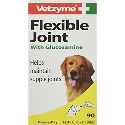Vetzyme Flexible Joint Tablets With Glucosamine, 90 Tablets - Glucosamine Dog