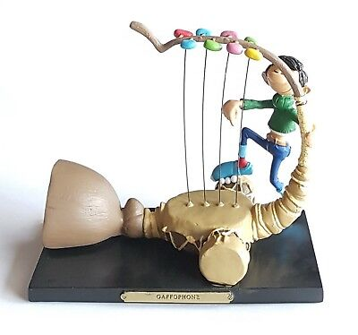 Figurine Gaston Lagaffe Plastoy Les Inventions Hors Serie Le Gaffophone 16 Cm