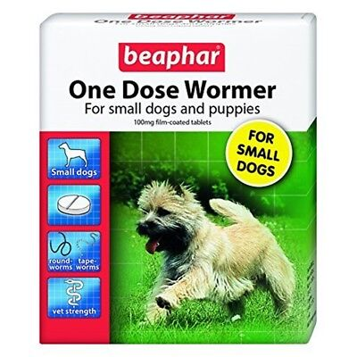 Beaphar Small Dogs & Puppies One Dose Wormer 3 Tablets (pack Of 6)