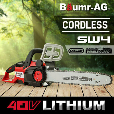 Baumr-AG 40V Cordless Chainsaw Lithium-Ion Electric Chain Saw Battery Oregon