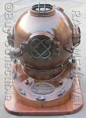 Vintage Collectibles Reproduction Diving Divers Helmet US Navy Mourse Mark V