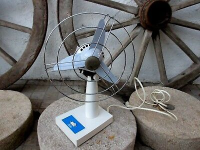 VINTAGE 1970's ITALY BJM BEAUTIFUL ELECTRIC FAN OSCILLATE ART DECO STYLE