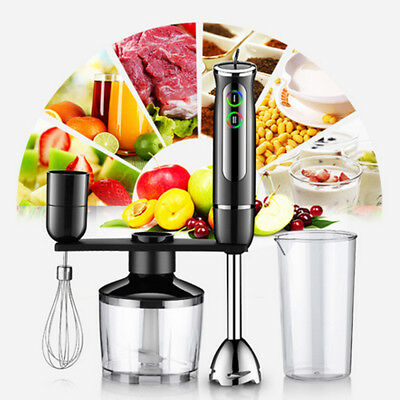 4in1 600W Electric Food Chopper Set Processor Mixer Whisk Hand Blender Processor
