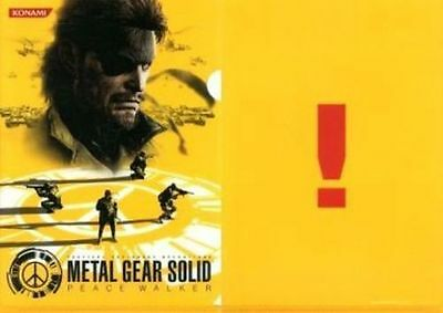 Metal Gear Solid Peace Walker Snake 2010 Japan Limited Clear File Kojima Konami