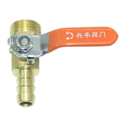 Brass Ball Valve Shut Off, Inline, Yellow Lever Handle for Oil, Gas 12mm