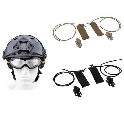 Glasses Goggles Auxiliary Bungee Line Rope Strap for Helmet Tactical Hunting