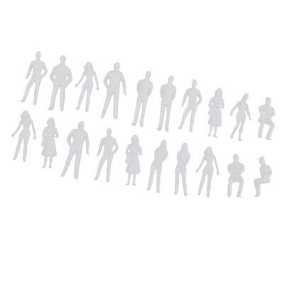 20Pc 1/50 Scale Unpainted Model People Miniature Figures Architectural Model