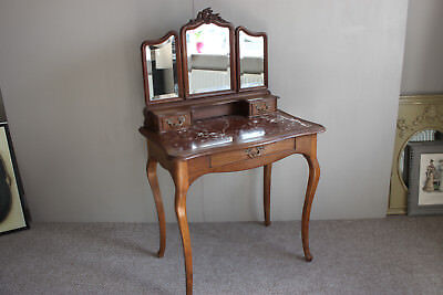 Louis XV French carved solid valnut dressing table