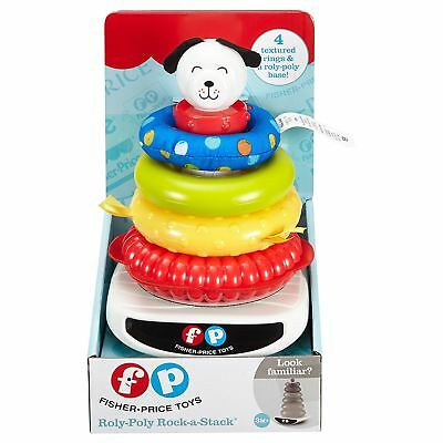 Fisher-Price Roly-Poly Rock-A-Stack Building Learning Ring Play Baby Toy 3M+