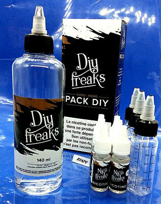 Base neutre 200ml Diy Freaks  E-LIQUIDE 50/50  3mg / 6mg + 3 flacons 30ml