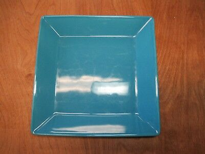 """Waechtersbach Germany FUN FACTORY TURQUOISE Square Dinner Plate 10"""" 1 ea"""