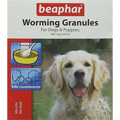 Beaphar Dogs & Puppies Worming Granules 4 Sachets (pack Of 6)