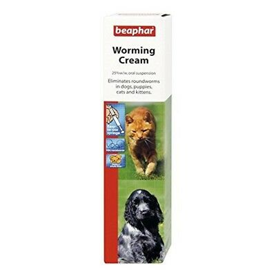 Beaphar Dog & Cat Worming Cream 18g (pack Of 6) - Dogs Treatment Puppies Cats