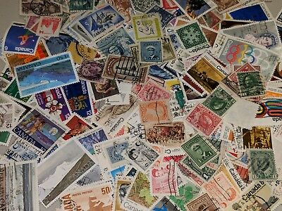 Stamp Pickers Canada Classic Stamps QV-QEII 300 Different Estate Collection Lot