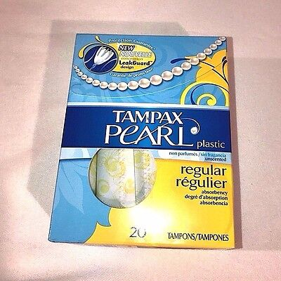 Tampax Pearl Regular Unscented Tampons 20 Count