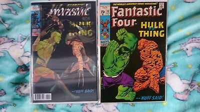 Fantastic Four 112 - Hulk V Thing + Homage Lenticular All New Wolverine 25