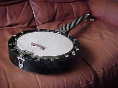 VINTAGE VICTORIAN ENGLISH 1890's ESSEX & CAMMEYER 5 STRING ZITHER BANJO LONDON