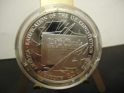 Liberia 2001  $20 (.999 Silver) Proof  Constitution Of The Usa  Commerative Coin