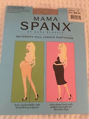 Mama Spanx Full Length Maternity Pantyhose Nude, size D $28