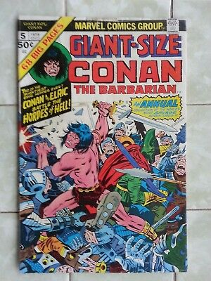 Giant-Size Conan the Barbarian # 5 / Elric / Barry Smith art / Jack Kirby cover!