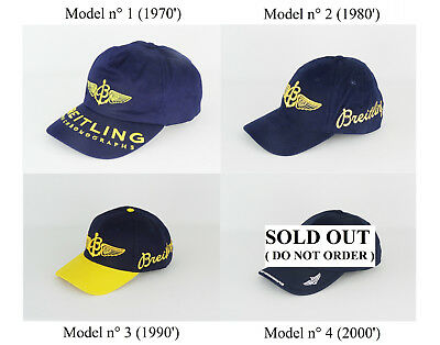 BREITLING RARE ! 4 Type of Vintage Baseball Cap / Hat - IN NEW CONDITION !