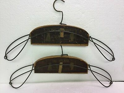 2 Antique Victorian Advertising Clothes Hangers The Belmar Wardrobe System PA US