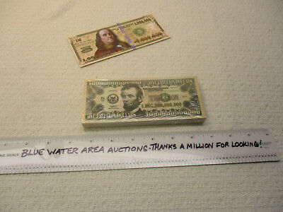 Package of (100) One TRILLION Dollar Bill Gospel Tracts, $1,000,000,000,000