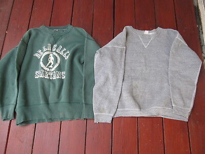 Lot of 2 Vintage Sweatshirt Size XL-2 Made in USA Gray/Green