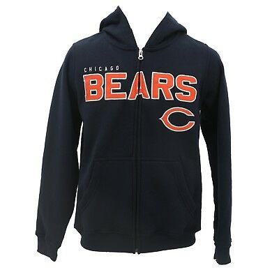 2bb3693c502249 Chicago Bears Kids & Youth Size NFL Official Zip Up Hooded Sweatshirt New  Tags