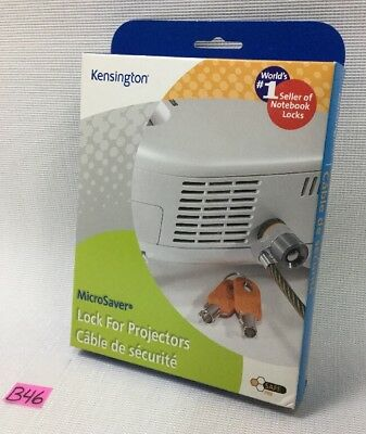 New In Box Kensington Microsaver Projector Lock K64530Us W/keys, B46.
