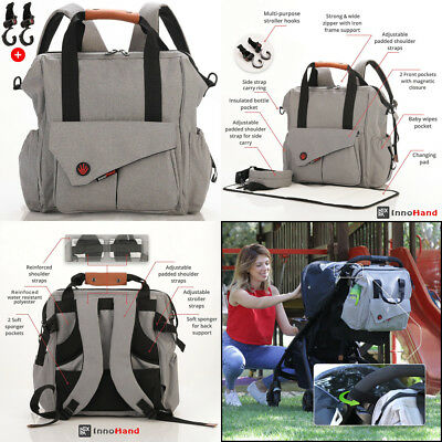 Nexpa Baby Diaper Bag Backpack W/ Stroller Straps & Changing Pad - Unisex...