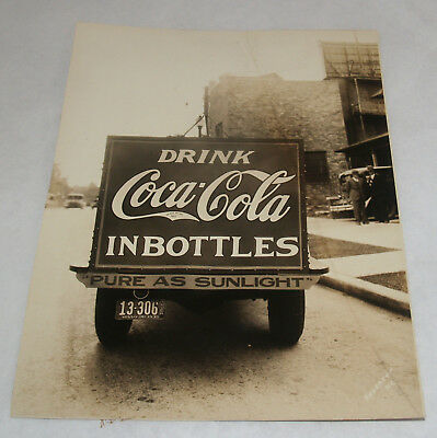 Vintage Coca Cola Coke Sign Delivery Truck Photograph Advertising Kansas City