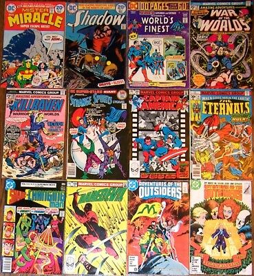 Lot: 12 DC & Marvel Comics Daredevil Shadow Outsiders Mr Miracle Eternals Shade
