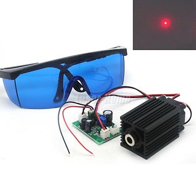 650nm 660nm 200mW Red Focusable Dot Laser Diode Module TTL w/ Protection Goggles