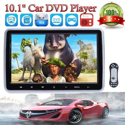 "10.1""HD Digital LCD Screen Car Headrest Monitor DVD/USB/SD Player IR/FM Receiver"