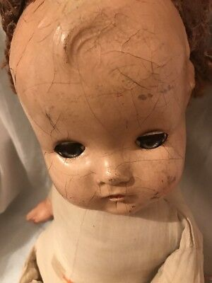 ANTIQUE VINTAGE MADAME ALEXANDER 1930's  COMPOSITION DOLL, 22""