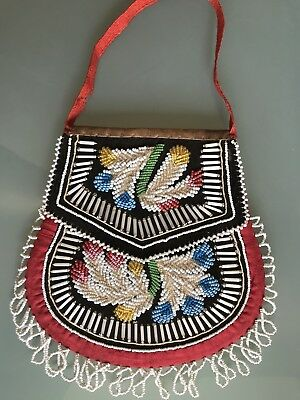 Native American Indians Beaded Bag Early 20th Colin F. Taylor Former Collection