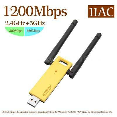 1200Mbps Wireless Dual Band USB3.0 Adapter 802.11AC WiFi Adattatore 2.4G/ 5GHz