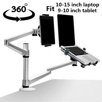 2 In 1 360º Rotating Adjust Laptop/ipad Pro /Tablets Desk/Bed Lazy Stand/Mount