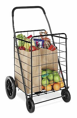 Heavy Duty Utility Cart Durable Collapsible Shopping Grocery Laundry Cart Basket