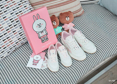 b5e7336a502f Reebok Classic Unisex LINE FRIENDS Revenge Plus Pink Limited Shoes Sneakers