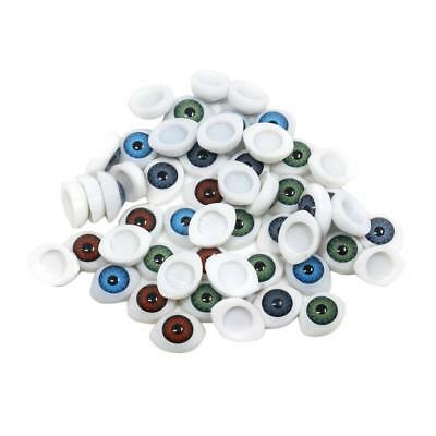 60x Plastic Glass Gothic Eyes Embellishments Handmade Accessories for Craft
