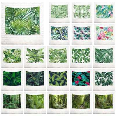 Rain Forest Tropical Palm Leaves Tapestry Wall Hanging Living Room Bedroom Decor