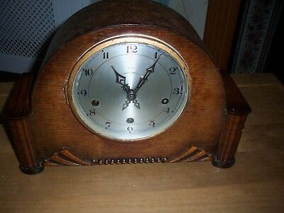 ENFIELD  VINTAGE  WESTMINSTER  CHIMING MANTEL CLOCK KEY WIND needs attention