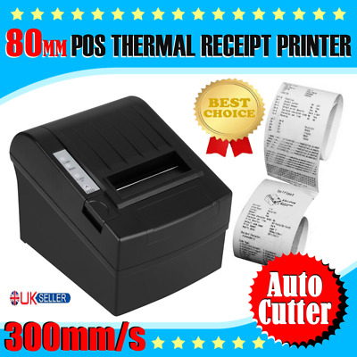 300mm/sec80mm POS Receipt Printer Thermal Dot Auto Cutter USB/Ethernet Port RJ11