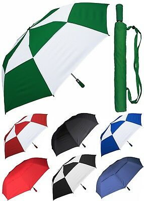 "56"" Arc Collapsible Windbuster Golf Auto-Open Umbrella - RainStoppers Rain/Shine"