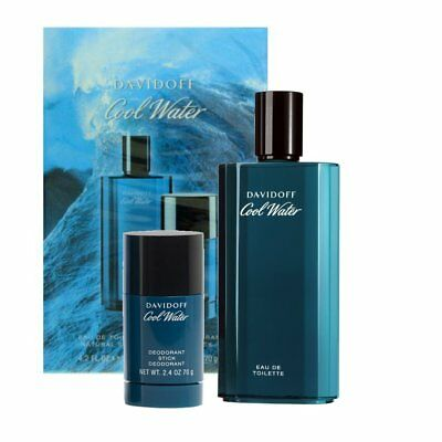 Davidoff Cool Water Men Set 125 ml Eau de Toilette + 75 ml Deo Stick  NEUWARE